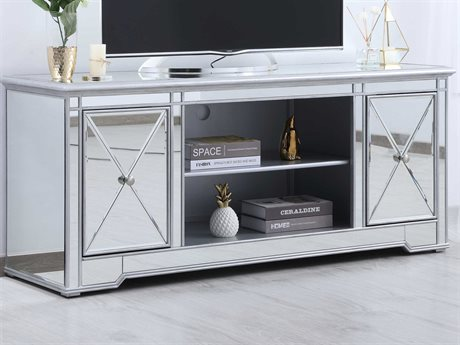Elegant Lighting Modern Antique Silver TV Stand EGMF601S