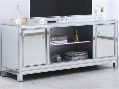 Elegant Lighting Modern Antique Silver TV Stand EGMF701S