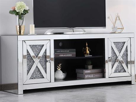 Elegant Lighting Modern Clear TV Stand EGMF9903