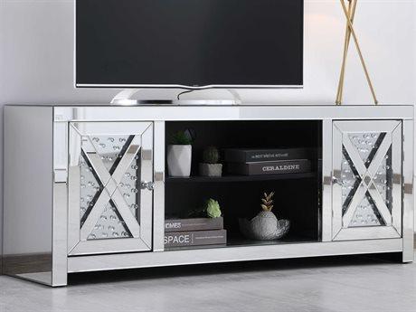 Elegant Lighting Modern Clear TV Stand EGMF9904
