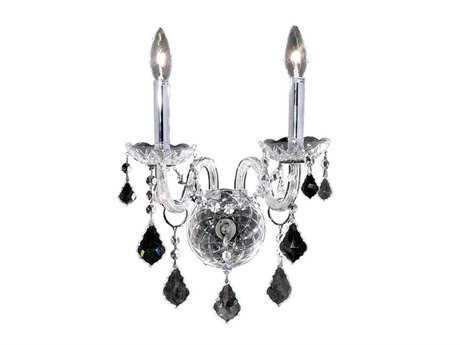 Elegant Lighting Alexandria Royal Cut Chrome & Crystal Two-Light Wall Sconce EG7831W2C