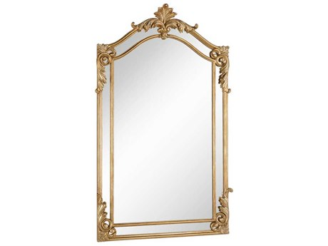 Elegant Lighting Antique 30''W x 48''H Gold & Clear Wall Mirror EGMR3342