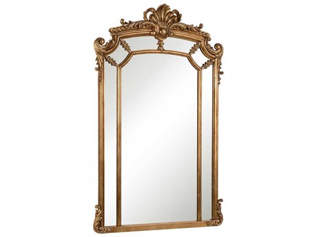 Elegant Lighting Antique 30''W x 48''H Gold & Clear Wall Mirror EGMR3344