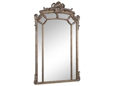 Elegant Lighting Antique 30''W x 48''H Silver & Clear Wall Mirror EGMR3354