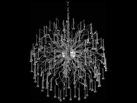 Elegant Lighting Astro Chrome & Clear Crystal 44-Lights 43.3'' Wide Pendant Light EG2075G43CRC