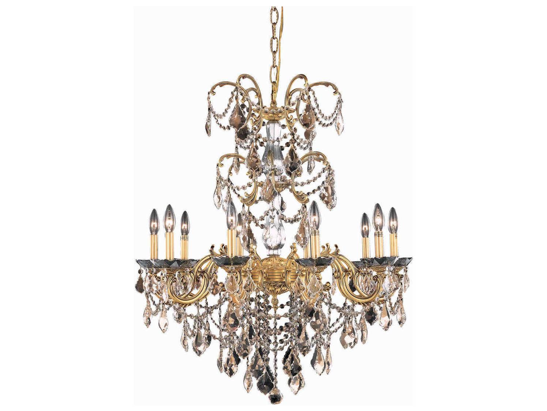 Progress Lighting Riverside Collection 4 Light Heirloom: Elegant Lighting Athena French Gold Ten-Light 29'' Wide