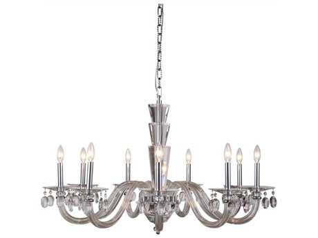 Elegant Lighting Augusta Chrome Nine-Light 39'' Wide Chandelier EG7870G39CRC