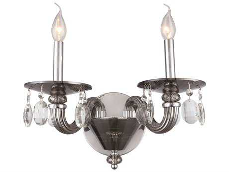 Elegant Lighting Augusta Silver Shade Two-Light Wall Sconce