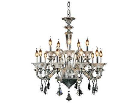 Elegant Lighting Aurora Chrome 15-Light 32'' Wide Chandelier EG7871D34CRC
