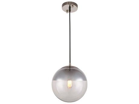 Elegant Lighting Beckett Polished Nickel 9'' Wide Mini Pendant Light