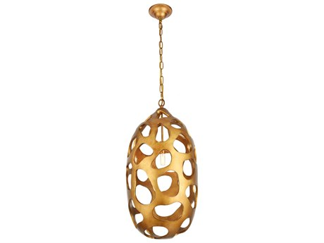Urban Classic by Elegant Lighting Gilded Gold 14'' Wide Chandelier