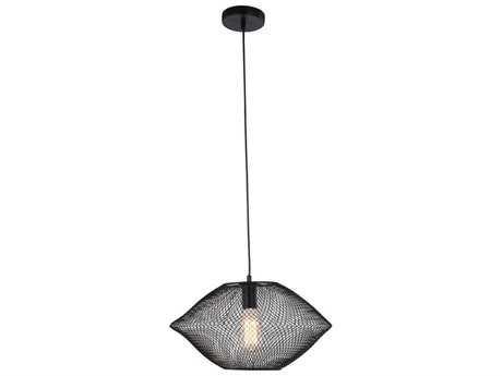 Elegant Lighting Brighton Black 17.5'' Wide Pendant Light