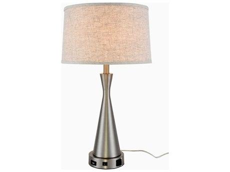 Elegant Lighting Brio Vintage Nickel Buffet Lamp