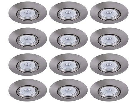 Elitco by Elegant Lighting Brushed Nickel 8'' Wide Recessed Trim