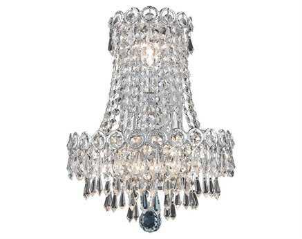Elegant Lighting Century Royal Cut Chrome & Crystal Three-Light Wall Sconce EG1902W12SC