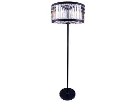 Elegant Lighting Chelsea Mocha Brown & Clear Crystal Six-Lights Floor Lamp EG1203FL25MB