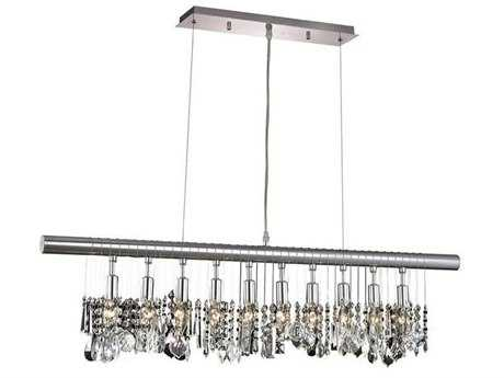 Elegant Lighting Chorus Line Royal Cut Chrome & Crystal Ten-Light 40'' Long Island Light EG3100D40C