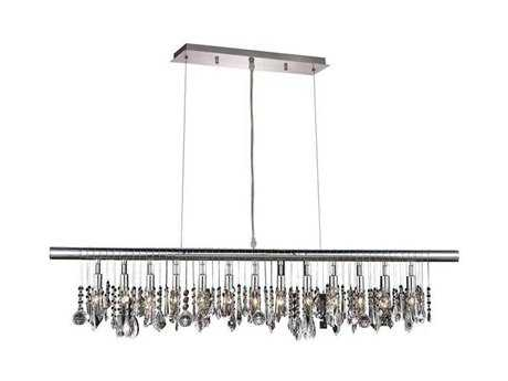 Elegant Lighting Chorus Line Royal Cut Chrome & Crystal 13-Light 48'' Long Island Light EG3100D48C