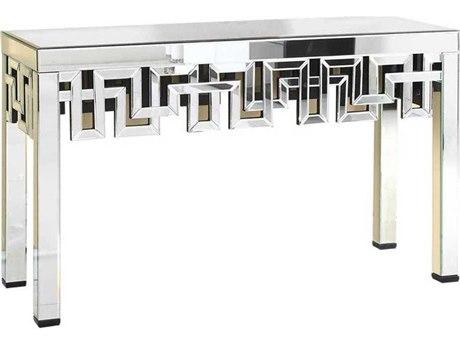 Elegant Lighting Modern Clear Mirror 52''L x 16''W Rectangular Console Table