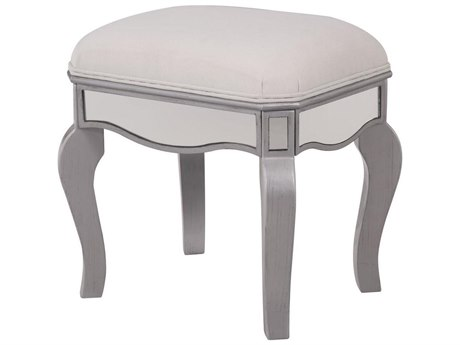 Elegant Decor by Elegant Lighting Hand Rubbed Antique Silver 18'' Wide Accent Stool
