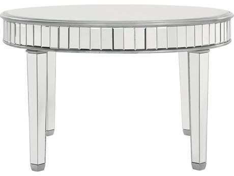 Elegant Decor by Elegant Lighting Hand Rubbed Antique Silver 48'' Wide Dining Table EGMF61008S
