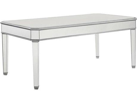 Elegant Decor by Elegant Lighting Hand Rubbed Antique Silver 60'' Wide Dining Table EGMF61009S