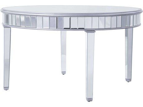 Elegant Decor by Elegant Lighting Hand Rubbed Antique Silver 60'' Wide Dining Table EGMF61037S
