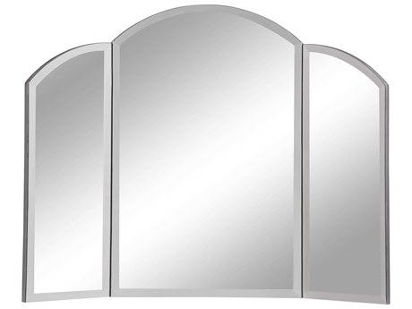 Elegant Decor by Elegant Lighting Hand Rubbed Antique Silver 32'' Wide Dresser Mirror