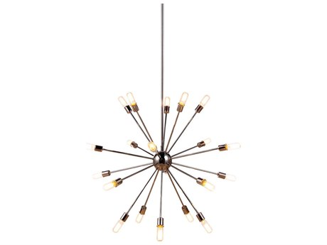 Elegant Lighting Cork Polished Nickel 20-Light 41'' Wide Pendant Light