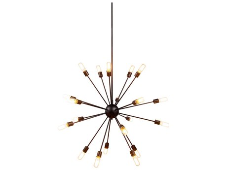 Elegant Lighting Cork Vintage Steel 20-Light 41'' Wide Pendant Light