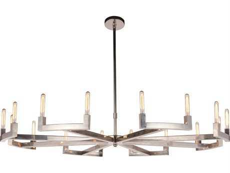 Elegant Lighting Corsica Polished Nickel 16-Light 72'' Wide Pendant Light