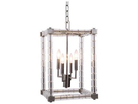Elegant Lighting Cristal Polished Nickel Four-Light 13'' Wide Mini Chandelier EG1461D13PN