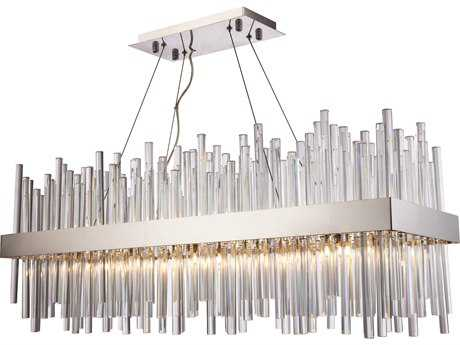 Elegant Lighting Dallas Chrome 20-Light 36'' Wide Island Light EG3000G36C