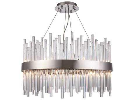 Elegant Lighting Dallas Chrome 16-Light 25'' Wide Pendant Light EG3000D25C