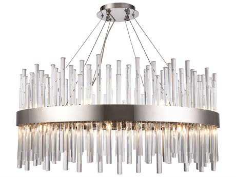 Elegant Lighting Dallas Chrome 32'' Wide Crystal Pendant EG3000D32C