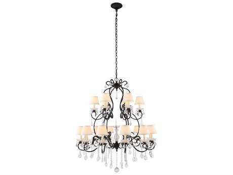 Elegant Lighting Diana Vintage Bronze & Clear Crystal 24-Lights 44'' Wide Grand Chandelier
