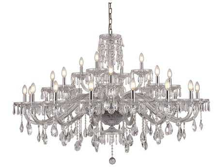 Elegant Lighting Elliott Chrome 28-Light 54'' Wide Grand Chandelier