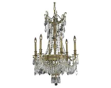 Elegant Lighting Esperanza Royal Cut French Gold & Crystal Nine-Light 22'' Wide Chandelier