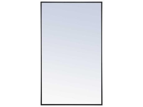 Elegant Lighting Eternity Black Wall Mirror EGMR4074BK
