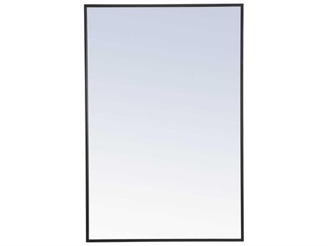 Elegant Lighting Eternity Black Wall Mirror EGMR4077BK
