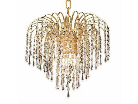 Elegant Lighting Falls Royal Cut Gold & Crystal Four-Light 14'' Wide Chandelier EG6801D14G