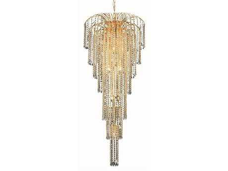 Elegant Lighting Falls Royal Cut Gold & Crystal 11-Light 25'' Wide Grand Chandelier EG6801G25G