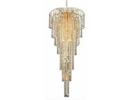 Elegant Lighting Falls Royal Cut Gold & Crystal 11-Light 25'' Wide Grand Chandelier EG6801G25G
