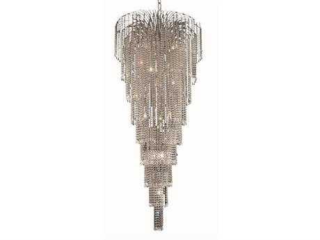 Elegant Lighting Falls Royal Cut Chrome & Crystal 15-Light 30'' Wide Grand Chandelier EG6801G30C