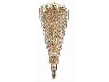 Elegant Lighting Falls Royal Cut Gold & Crystal 15-Light 30'' Wide Grand Chandelier EG6801G30G