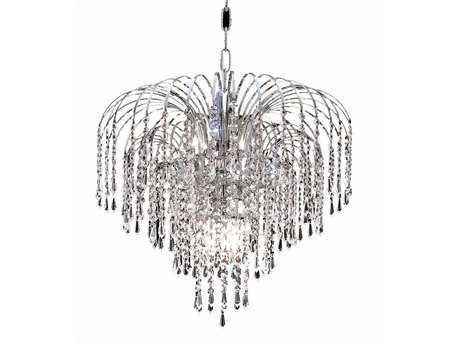 Elegant Lighting Falls Royal Cut Chrome & Crystal Six-Light 19'' Wide Mini Chandelier EG6801D19C