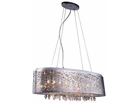 Elegant Lighting Finley Chrome Nine-Light 32'' Long Island Light EG2113DF32CRC