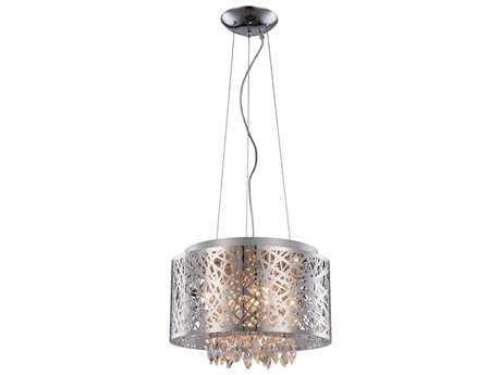 Elegant Lighting Finley Chrome Seven-Light 16'' Wide Pendant Light EG2113DF16CRC