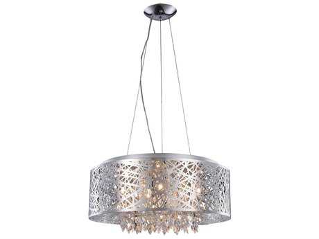 Elegant Lighting Finley Chrome Nine-Light 24'' Wide Pendant Light EG2113DF24CRC