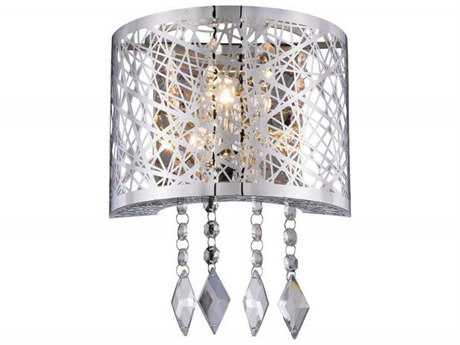 Elegant Lighting Finley Chrome Wall Sconce EG2113W8CRC